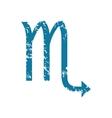 Grunge scorpio icon vector image