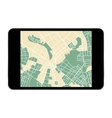 tablet map vector image vector image