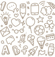 Different web interface silhouettes vector image