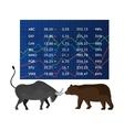 Stock market and exchange vector image