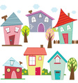Cute Houses and Homes vector image