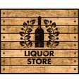 wine and liquor store sign vector image