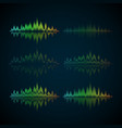 a set of musical waves in the form of equalizer vector image