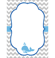 Baby Boy Invitation Card vector image