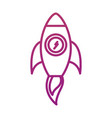 business rocket start launch success concept vector image