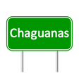 Chaguanas road sign vector image