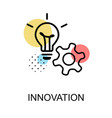 innovation icon with light bulb and gear on white vector image