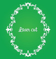laser cut white frame vector image