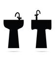 sink in black vector image