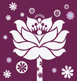 purple blossom vector image vector image