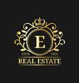 real estate monogram logo templateluxury vector image