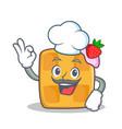 Chef waffle character cartoon design vector image