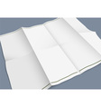 Empty folded paper booklet vector image vector image
