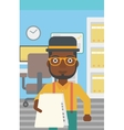 Man giving resume vector image vector image
