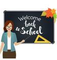 back to school teacher vector image