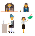 business people office workers in formal clothes vector image