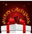 holiday Christmas background with gift box vector image