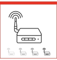 icon of wireless access point vector image