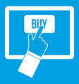 online shopping icon white vector image