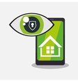 home security smartphone technology vigilance vector image