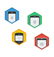 Mobile Platforms Flat Icons vector image