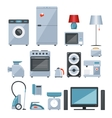 Colored icons of home appliances vector image