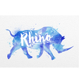 Painted animals rhino vector image