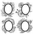 vintage oval frames vector image