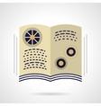 School book flat color design icon vector image