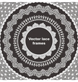 Set of lace frames vector image vector image