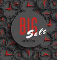 Big sale time poster mockup clock hands shop vector image