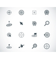 black target icons set vector image