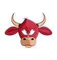 cartoon bull head vector image