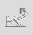 China Wall vector image