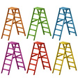 Ladder in six colors vector image