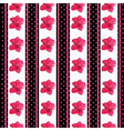 Seamless wallpaper pattern with flowers on black vector image