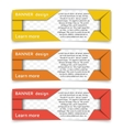 Set of web banners in modern style vector image