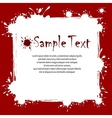 Text on inkblots background vector image