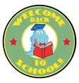 Worm On A Green Welcome Back To School Circle vector image
