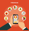flat firefighting concept vector image