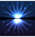Bright blue explode vector image vector image