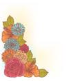Elegant floral corner card vector image