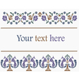 Flower decorative patterns indian style vector