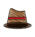 brown hat cartoon vector image