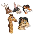 collection animals hipster fashion sunglasses vector image