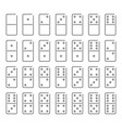 dominoes icon set symbol vector image