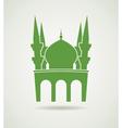 islamic mosque icon vector image