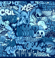 seamless graffiti pattern vector image
