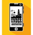 smartphone site under construction vector image