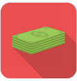 Stack of paper money vector image